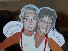 Leiter der Aktivgruppe Gymnastik - Renate und Wolfgang